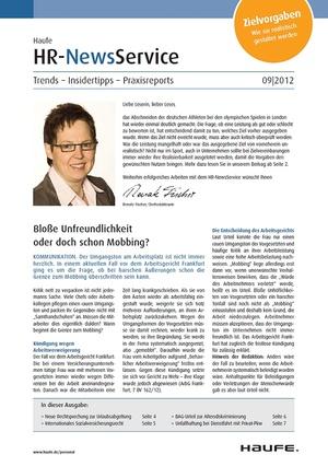 HR Newsservice Ausgabe 9/2012   HR Newsservice