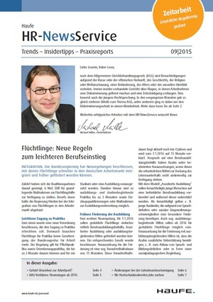 HR News Service Ausgabe August 2015 | HR Newsservice