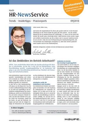 HR News Service Ausgabe 09/2018 | HR Newsservice