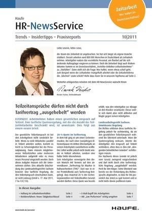HR Newsservice Ausgabe 10/2011   HR Newsservice