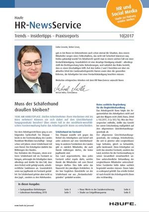 HR News Service Ausgabe 10/2017 | HR Newsservice