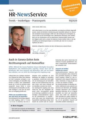 HR News Service Ausgabe 10/2020 | HR Newsservice