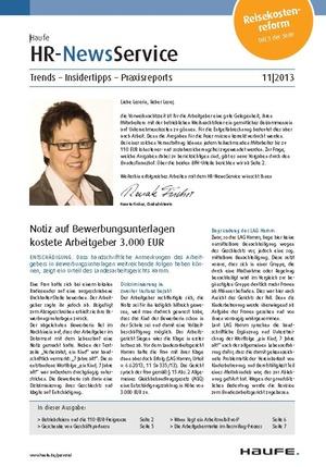 HR Newsservice Ausgabe 11/2013 | HR Newsservice