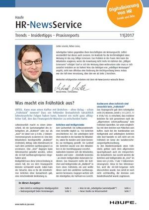 HR News Service Ausgabe 11/2017 | HR Newsservice