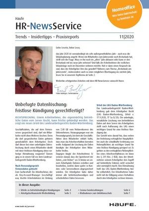 HR News Service Ausgabe 11/2020 | HR Newsservice