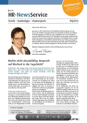 HR News Service 05/2014 | HR Newsservice
