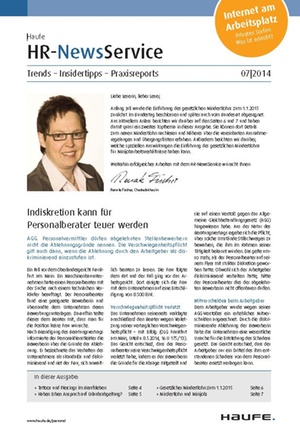 HR News Service 07/2014 | HR Newsservice