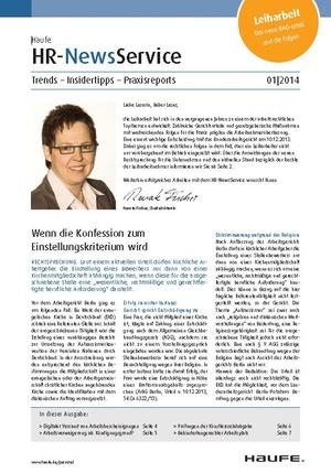 HR Newsservice Ausgabe 1/2014 | HR Newsservice