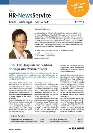 HR Newsservice Ausgabe 12/2013 | HR Newsservice