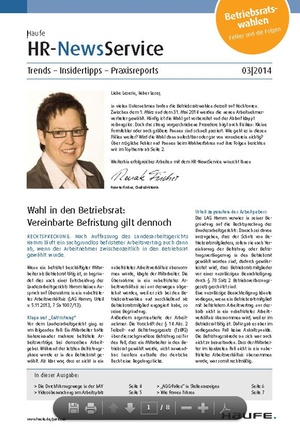 HR News Service Ausgabe 03/2014 | HR Newsservice