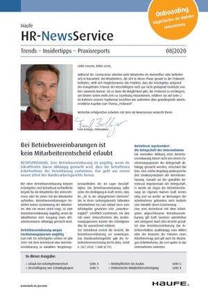 HR News Service Ausgabe 8/2020 | HR Newsservice