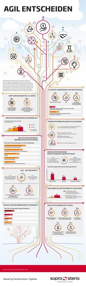Infografik Agil entscheiden