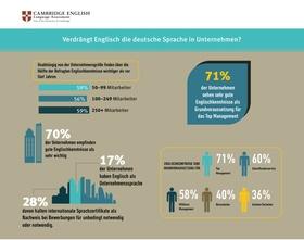 Infografik: Englischkenntnisse in Unternehmen