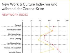 Infografik zur New Work Studie Bruch