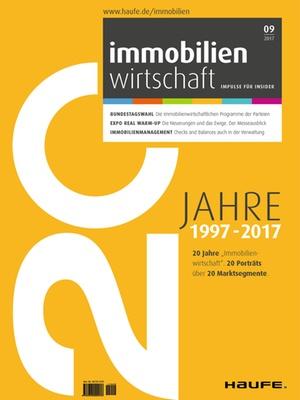 Immobilienwirtschaft 9/2017 | Immobilienwirtschaft: Magazin für Management, Recht, Praxis