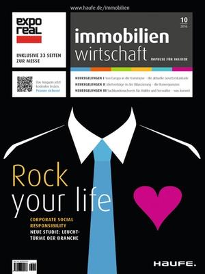 Immobilienwirtschaft 10/2016 | Immobilienwirtschaft: Magazin für Management, Recht, Praxis