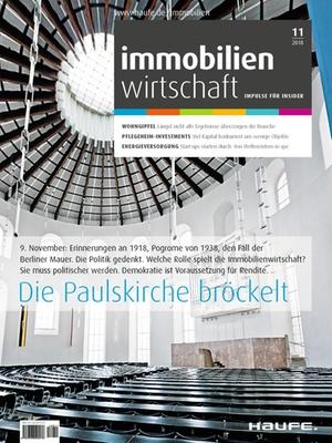 Immobilienwirtschaft 11/2018 | Immobilienwirtschaft: Magazin für Management, Recht, Praxis