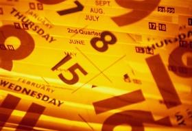 Kalenderblätter - Wochentage und Monate wild durcheinander