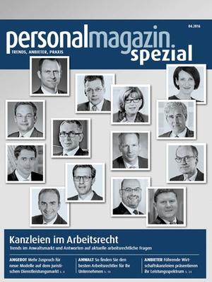 Sonderveröffentlichung: Kanzleien im Arbeitsrecht 2016