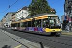Karlsruhe Innenstadt mit Straßenbahn