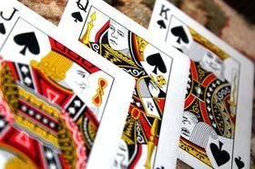 Kartenspiel Spielkarten Bube Dame König Pik