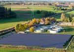 Solaranlage und Klaerwerk