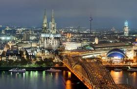 Köln Skyline mit Dom