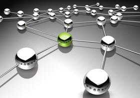Kugeln verbindet ein Netzwerk