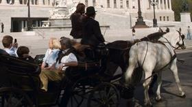 Wien, Fiaker-Kutsche vor dem Parlament, Oesterreich