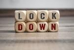 Würfel Aufschrift Lockdown