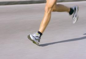 Läufer, nur Beine sichtbar
