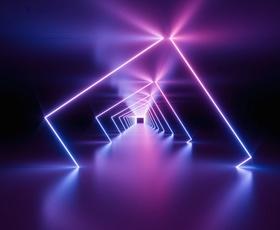Laserstrahlen Weg abmessen