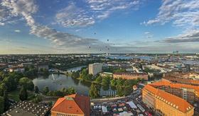 Luftbild Blick über Kiel