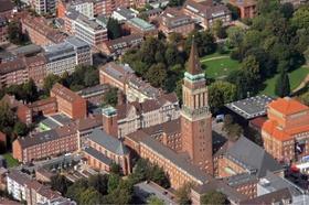 Luftbild Kiel mit Rathaus