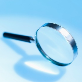 Close-up of magnifying glass