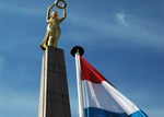 Luxemburg Flagge und Wahrzeichen