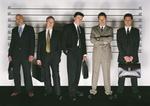 Männer Verdächtige von Polizei fotografiert Gefängnis