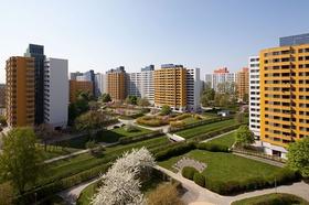 Märkisches Viertel Berlin sanierte Hochhäuser Gesobau