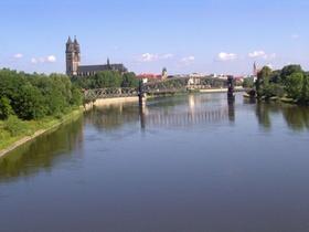 Magdeburg Dom Elbe