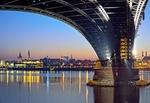 Mainz Skyline_Stadtansicht bei Nacht