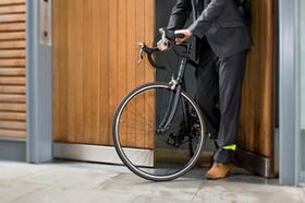 Cyclist opening door