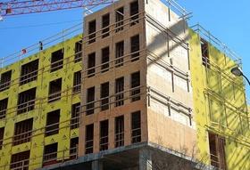 Mehrfamilienhaus im Bau