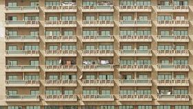 Mehrfamilienhaus Wohnhochhaus Fassade Balkone