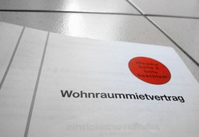 Mietvertrag Wohnung Deckblatt
