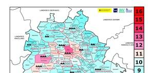IVD-Mietwetterkarte: Berlin: Zuwanderer bevorzugen Bezirk Mitte