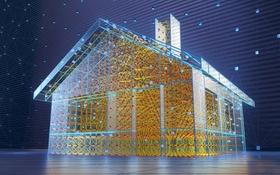 Modellhaus aus Verbindung von Energieströmen
