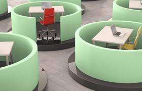 moderne Arbeitsplätze in Smart Office