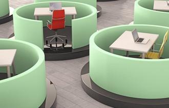 Neue Arbeitswelten : Großraum- und Multi-Space-Offices bringen Vorteile, aber auch Stress