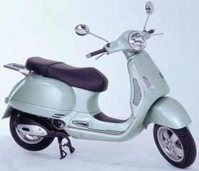 Motorroller, Retro-Design, seitlich