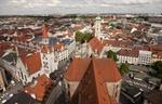 München Blick auf Dächer